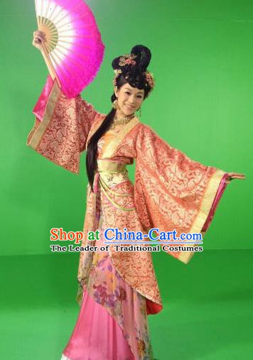 Chinese Ancient Tang Dynasty Dancer Hanfu Dress Historical Costume for Women