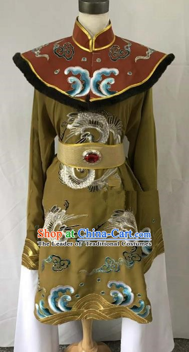 Top Grade Chinese Beijing Opera Martial Arts Female Green Dress China Peking Opera Warrior Embroidered Costume