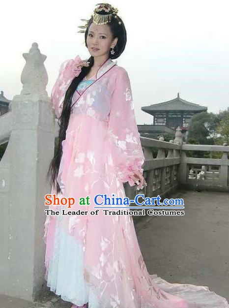 Chinese Tang Dynasty Consort Yang Embroidered Dress Ancient Palace Lady Yang Yuhuan Historical Costume for Women