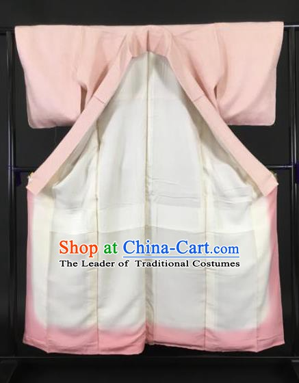 Japan Traditional Kimono Furisode Kimono Ancient Pink Yukata Dress Formal Costume for Women
