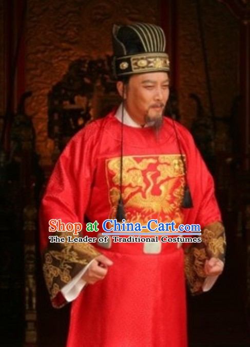 Ming Dynasty Official Zhang Juzheng Costumes and Hat Complete Set
