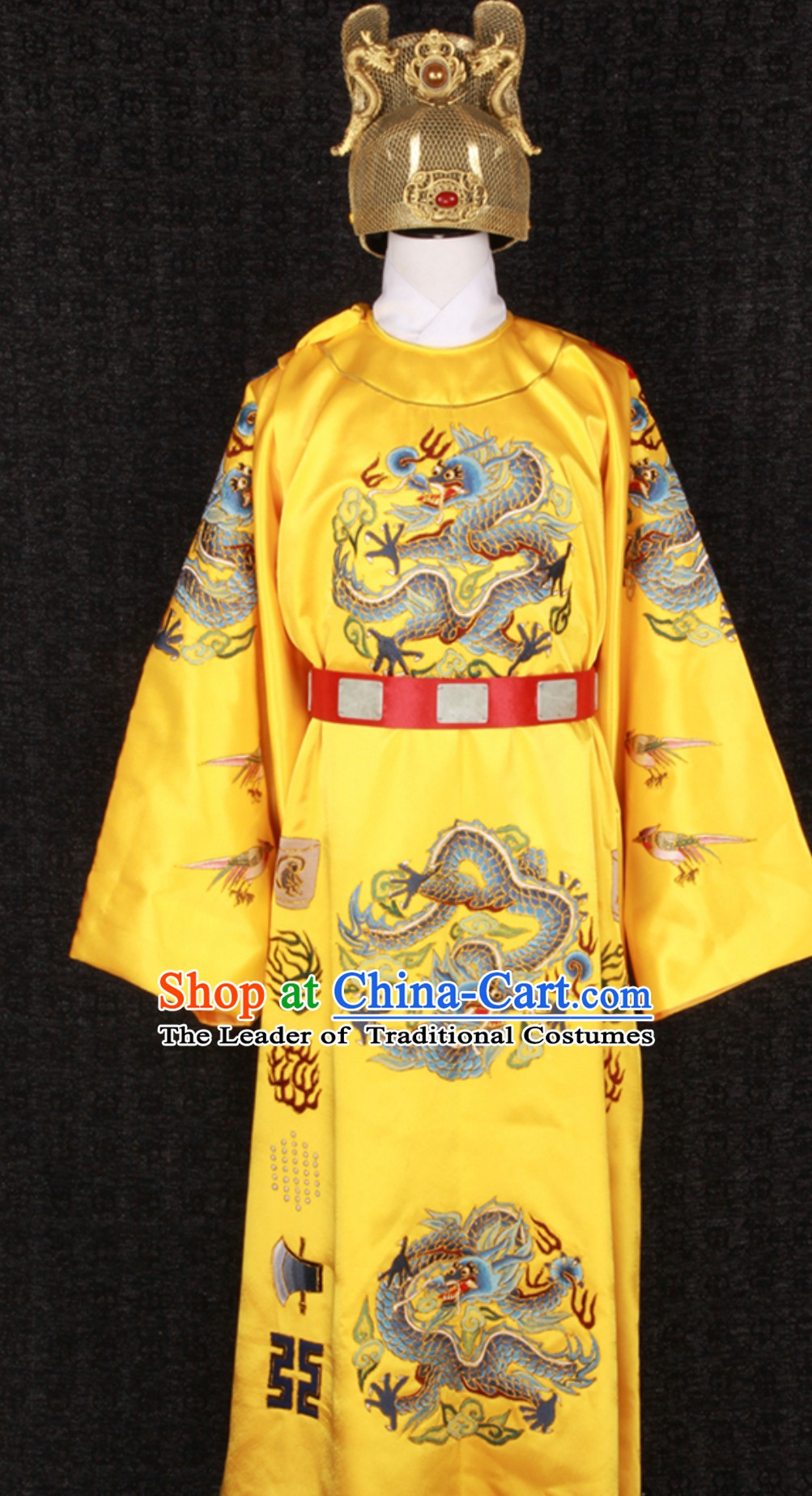 Ming Dynasty Wanli Emperor Costumes and Crown Complete Set