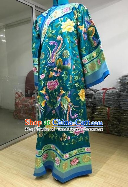 China Traditional Qing Dynasty Palace Lady Manchu Imperial Concubine Embroidered Dress Costume for Women