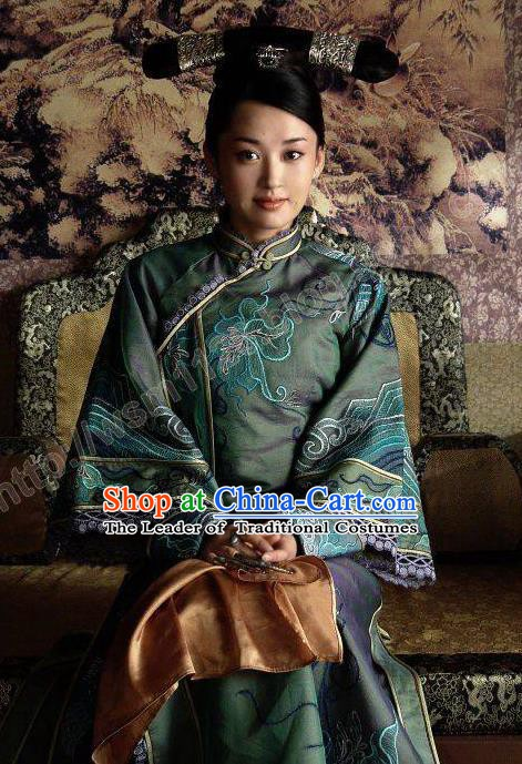 Chinese Traditional Palace Lady Historical Costume China Qing Dynasty Empress Dowager Xiaozhuang Clothing