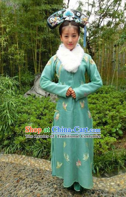 Chinese Ancient Yongzheng Imperial Concubine Historical Costume China Qing Dynasty Manchu Lady Clothing