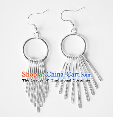 Traditional Chinese Miao Nationality Tassel Earrings Hmong Accessories Eardrop for Women