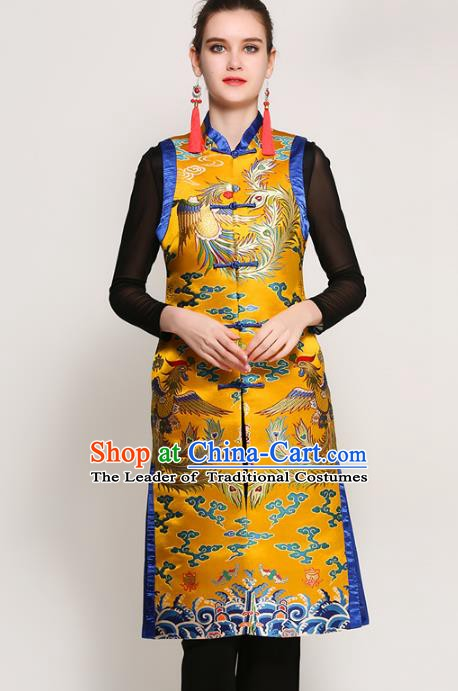 Chinese National Costume Tang Suit Qipao Coats Traditional Embroidered Peony Vests for Women