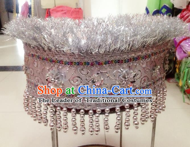 Traditional Chinese Miao Nationality Hair Accessories Wedding Hats Hmong Ethnic Minority Headwear for Women