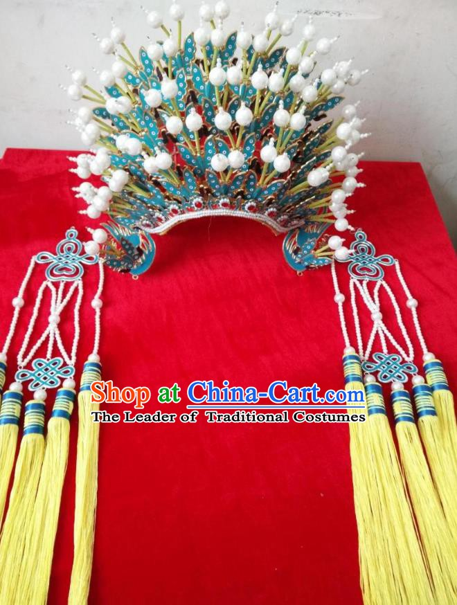 Traditional Chinese Beijing Opera Bride Phoenix Coronet Hair Accessories Female Headgear Peking Opera Actress Headwear