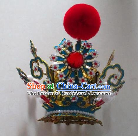 Traditional Chinese Beijing Opera Niche Hair Crown Peking Opera Young Men Headwear