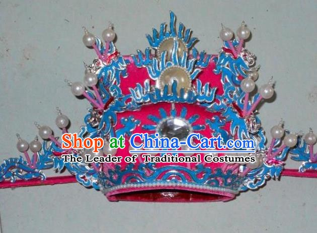 Traditional Chinese Beijing Opera Prime Minister Hair Accessories Peking Opera Chancellor Pink Hats Headwear