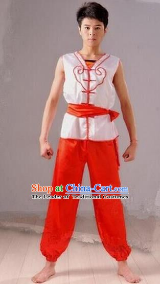 Traditional Chinese Folk Dance Costume, Chinese Yangko Drum Dance Clothing for Men
