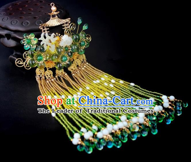 Chinese Ancient Handmade Hair Accessories Tassel Step Shake Hairpins for Women