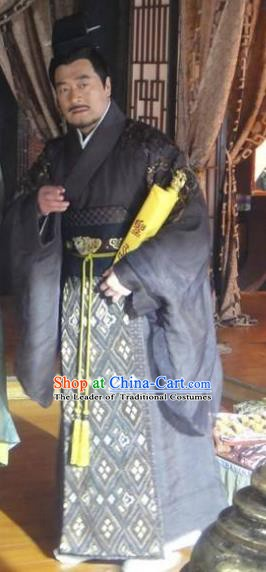 Traditional Ancient Chinese Han Dynasty Taoist Priest Replica Costume for Men