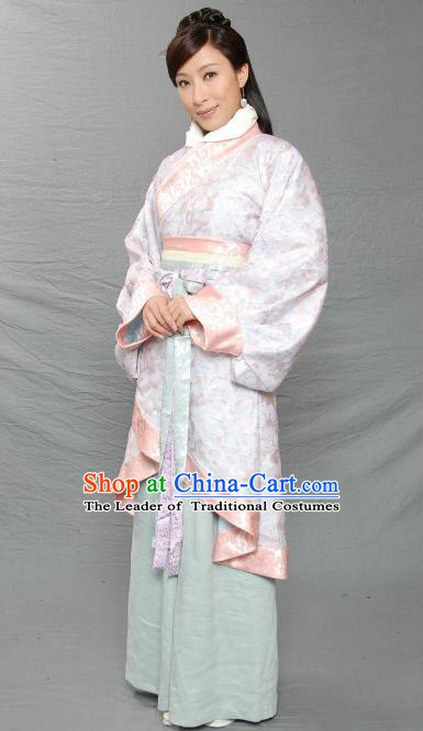 Ancient Chinese Han Dynasty Court Maid Hanfu Dress Las Meninas Replica Costume for Women