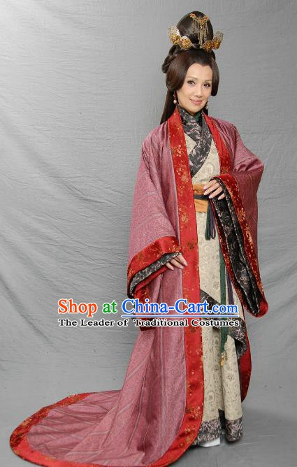 Chinese Ancient Eastern Han Dynasty Duke Liu Biao Marquise Hanfu Dress Replica Costume for Women