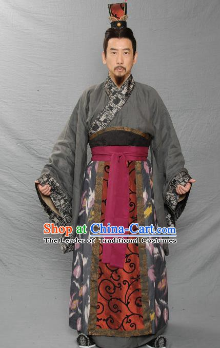 Chinese Ancient Three Kingdoms Period Wei Kingdom Master Strategist Xun Yu Replica Costume for Men