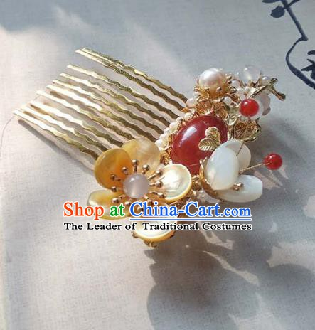 Chinese Handmade Ancient Hair Accessories Hair Comb Classical Hanfu Hairpins for Women