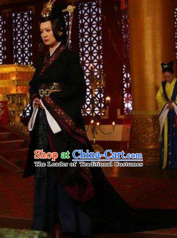 Chinese Ancient Empress Dowager Hanfu Dress Northern and Southern Dynasties Qi Kingdom Queen Mother Replica Costume for Women