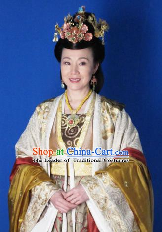 Chinese Ancient Five Dynasties and Ten Kingdoms Queen Li Hanfu Dress Replica Costume for Women