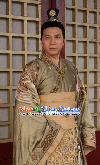Chinese Ancient  Five Dynasties and Ten Kingdoms Chu Emperor Replica Costume for Men