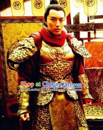 Chinese Ancient Sui Dynasty Minister General Yuwen Chenglong Replica Costume for Men