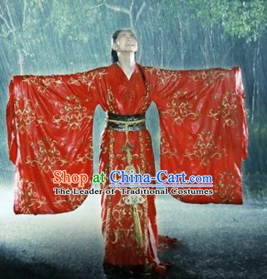 Chinese Ancient Warring States Period Princess Jinshu Hanfu Dress Wedding Replica Costume for Women