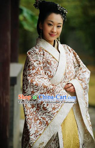 Chinese Ancient Spring and Autumn Period Court Maid Hanfu Dress Replica Costume for Women