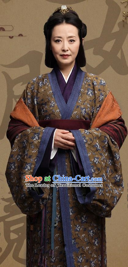 Chinese Ancient Three Kingdoms Period Wu State Empress Yuan Hanfu Dress Replica Costume for Women