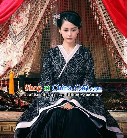 Chinese Ancient Han Dynasty Imperial Consort Hanfu Dress Replica Costume for Women