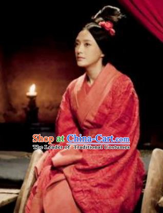 Chinese Eastern Han Dynasty Empress Lv Zhi Hanfu Dress Ancient Queen Lv Replica Costume for Women