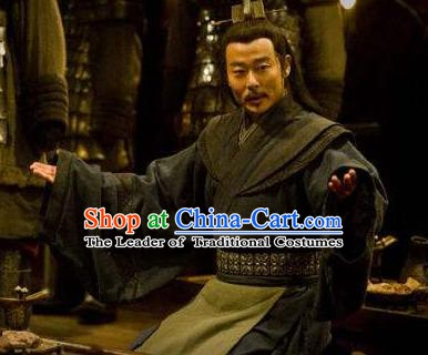 Ancient Chinese Han Dynasty Military Counsellor Zhang Liang Historical Costume for Men