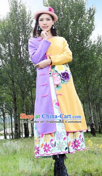 Traditional China National Costume Printing Peony Cheongsam Dress Chinese Tang Suit Plated Buttons Qipao for Women
