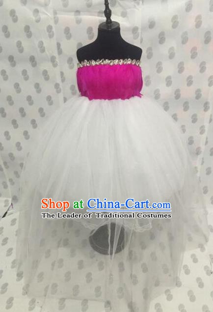 Top Grade Children Stage Performance Costume Modern Dance Bubble Dress Catwalks Princess Dress for Kids
