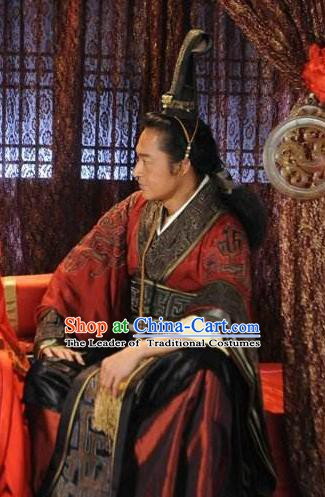 Ancient Chinese Spring and Autumn Period Wu State King Fu Chai Replica Costumes for Men