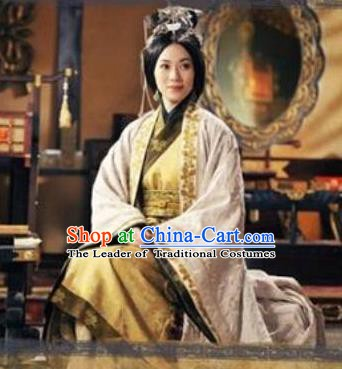 Chinese Ancient Han Dynasty Imperial Empress Chen A-jiao Hanfu Dress Replica Costume for Women