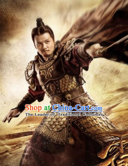 Chinese Ancient Han Dynasty General Military Officer Wei Qing Replica Costume for Men