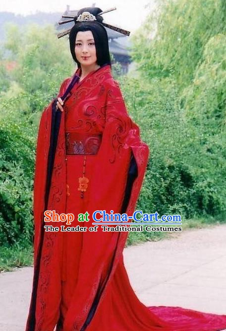 Chinese Ancient Western Han Dynasty Princess Pingyang Hanfu Dress Replica Costume for Women