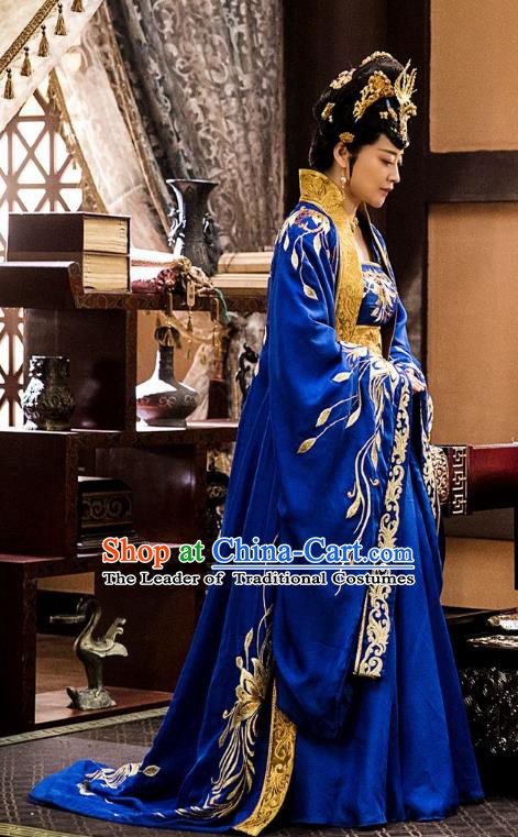 Nirvana in Fire Chinese Ancient Northern and Southern Dynasties Queen Hanfu Dress Replica Costume for Women