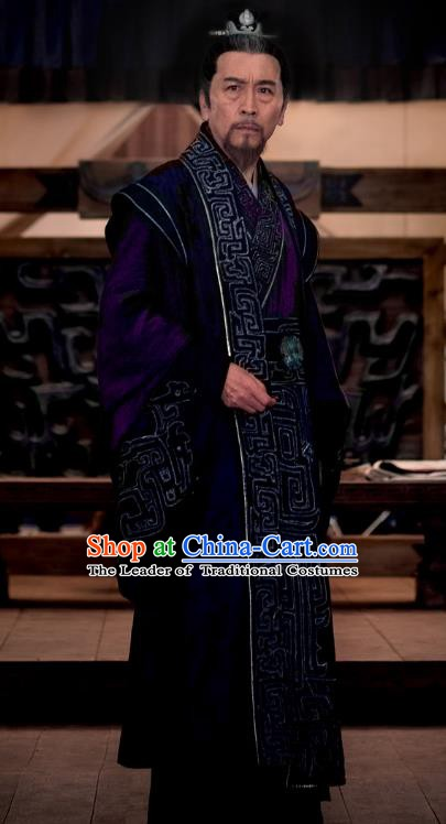 Chinese Ancient Nirvana in Fire Southern and Northern Dynasties Prime Minister Xun Baishui Replica Costume for Men