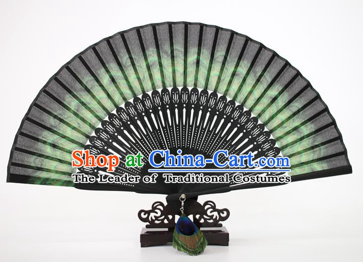 Chinese Traditional Artware Handmade Folding Fans Silk Accordion Fans
