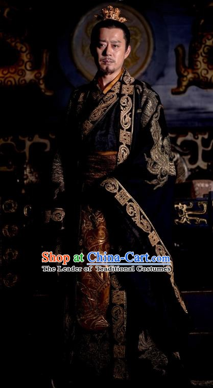 Nirvana in Fire Chinese Ancient Liang State Emperor Embroidered Replica Costume for Men