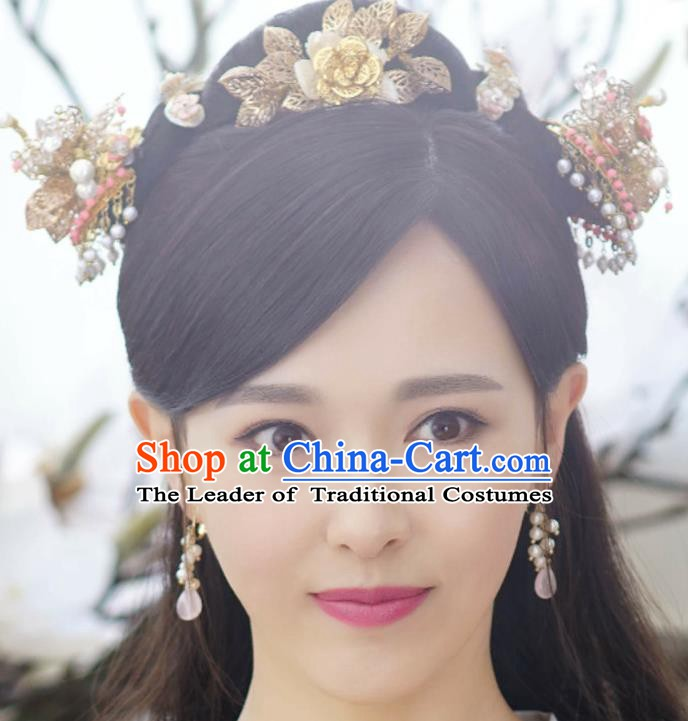 Traditional Chinese Ancient Princess Hair Accessories Hairpins Hair Comb Complete Set for Women