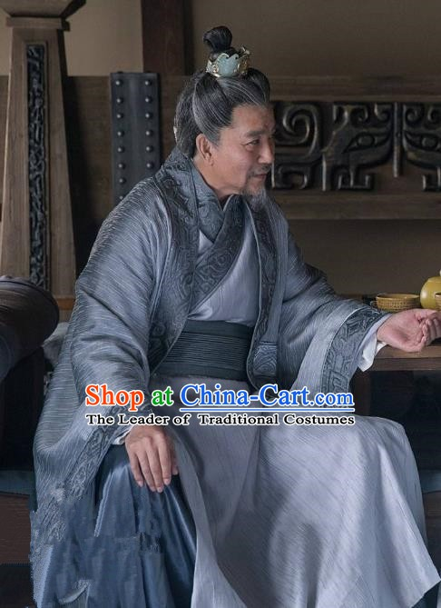 Chinese Ancient Northern and Southern Dynasties Nirvana in Fire Marquis Changlin Embroidered Replica Costume for Men