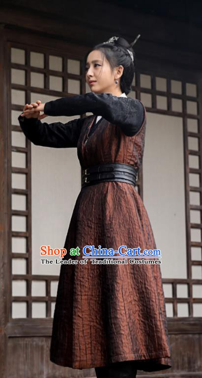 Chinese Ancient Nirvana in Fire Swordswoman Meng Qianxue Replica Costume for Women