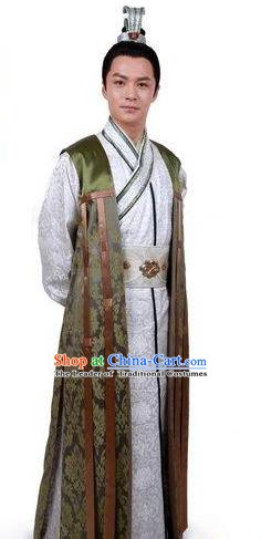 Chinese Ancient Tang Dynasty Emperor Li Shimin Embroidered Replica Costume for Men