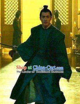 Chinese Ancient Tang Dynasty Prince Shou Li Mao Embroidered Replica Costume for Men