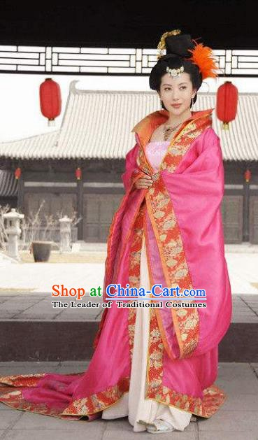 Chinese Ancient Tang Dynasty Princess Lanling Hanfu Dress Embroidered Replica Costume for Women