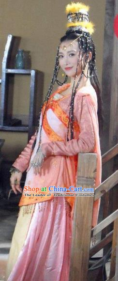 Chinese Ancient Tang Dynasty Princess Tulu Dress Embroidered Replica Costume for Women