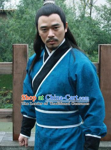Chinese Ancient Tang Dynasty General You Junda Replica Costume for Men